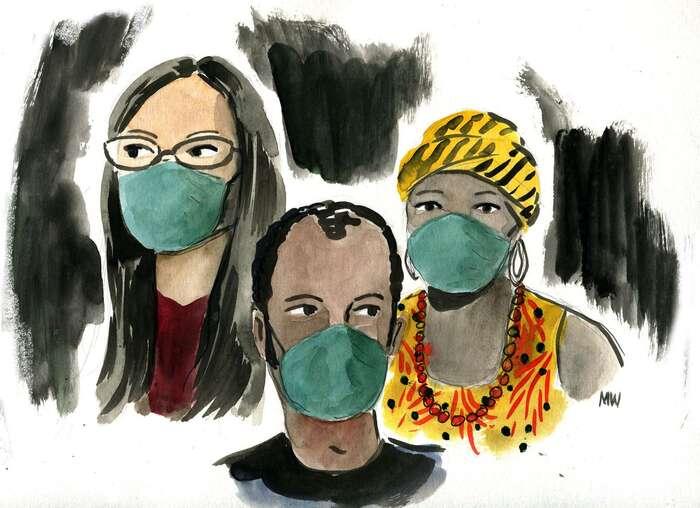 Pandemie sinevybírá. Ilustrace Mark Weber