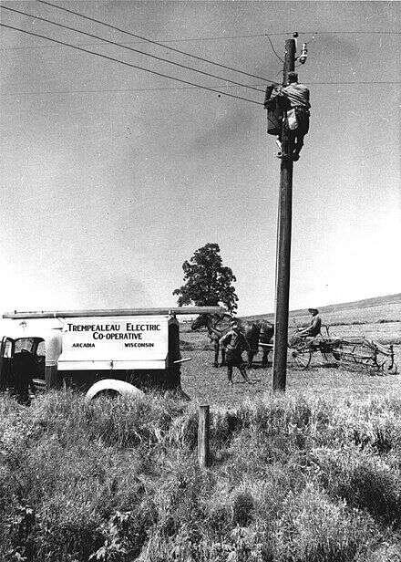 Elektrifikace amerického venkova nebyla ničím samozřejmým. Foto Wikiwand