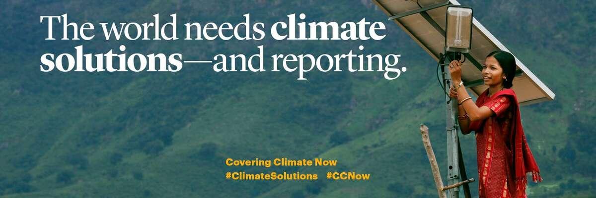 Produkci médií zcelého světa účastnících seprojektu můžete pocelý týden sledovat pod hashtagy #CCNow a#ClimateSolutions. Grafika CCNow