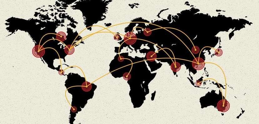Města jsou styčnými body auzly globální ekonomiky ainfrastruktury, současně jsou ale nyní nejvíc ohrožena. Ilustrace citi.io