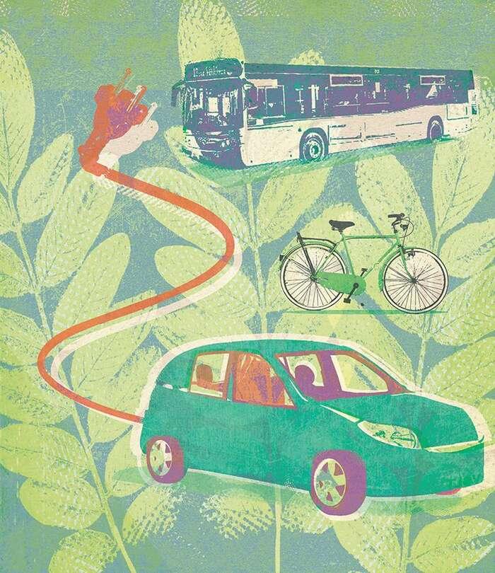 Máme jedinečnou příležitost všem ukázat, že existují příjemnější varianty, než sepo městě pohybovat autem. Ilustrace Green Europe Journal