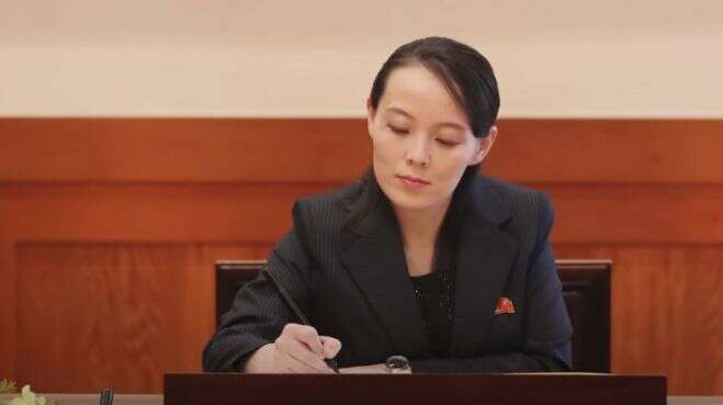 Kim Čong-unova mladší sestra Kim Jo-čong: diktátorova kancléřka, důvěrnice aaktuálně hvězda všech textů oKoreji. Foto NKN