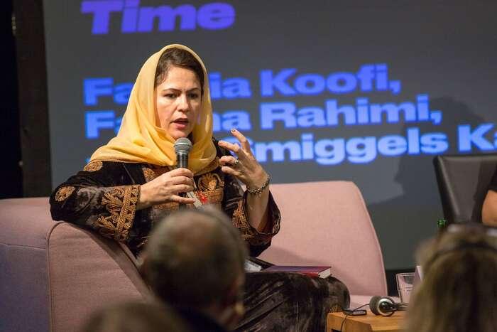 Afghánská politička, spisovatelka abojovnice zapráva žen adětí zademokracii. Foto Radek Lavička