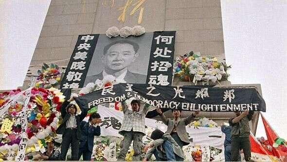 Čínské hnutí roku 1989 připomíná, že posvobodě touží všichni lidé nacelém světě. Ataké, že výsledek revoluce, která unás ukončila komunistický režim, nebyl samozřejmý. Foto DW