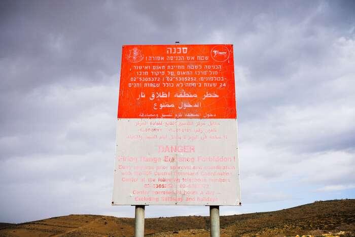 V oblasti Jordánského údolí jevyhlášena vojenská zóna, přestože sejedná oúzemí Západního břehu Jordánu. Točiní problematickým vůbec pohyb potomto území.Foto Lucie Šarkadyová