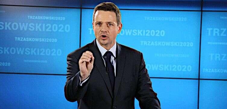 Rafał Trzaskowski rychle přeskákal ostatní Dudovi vyzyvatele. Repro zvideozáznamu