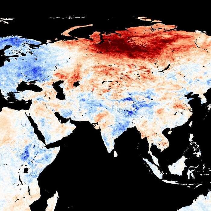 Sibiřská vedra jsou vážná, ale neznamenají konec civilizace. Foto NASA