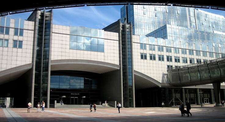 Hlavní budova Evropského parlamentu pojmenovaná podle italském komunistovi aeurofederalistovi Altieru Spinellim. WmC