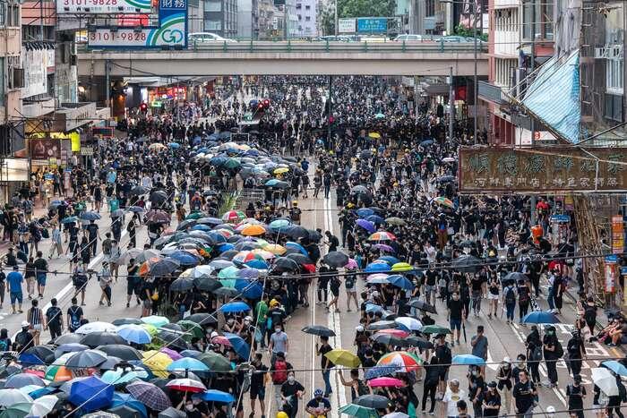 Návrat kreálné autonomii či možnost plné demokratizace Hongkongu — bez přímé závislosti navývoji Číny jako celku — jsou asi již nadobro uzavřeny. Foto doctorho, flickr