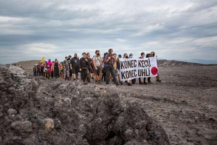 Aktivisté usilují oconejrychlejší konec těžby uhlí aspravedlivou transformaci uhelných regionů. Foto Peťo Tkáč, DR