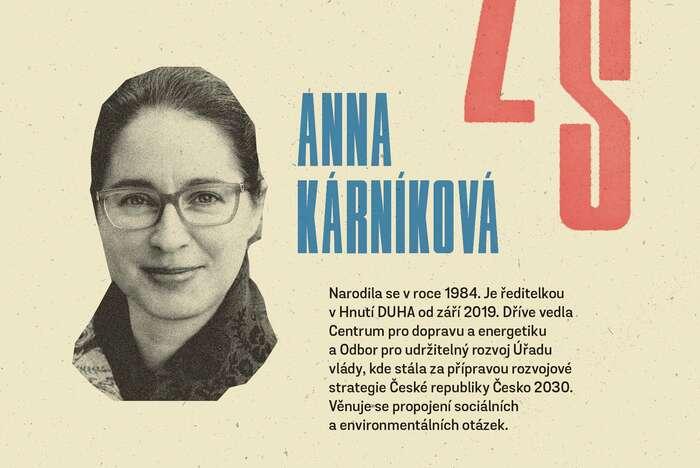 Po Kláře Vlasákové aLukasi Rietzschelovi pokračujeme esejí Anny Kárníkové. Grafika Petr Kněžek