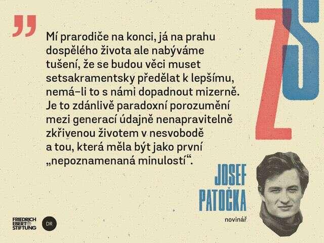 Cyklus Zrozeni azrazeni svobodou uzavírá esej redaktora DRJosefa Patočky. Petr Kněžek