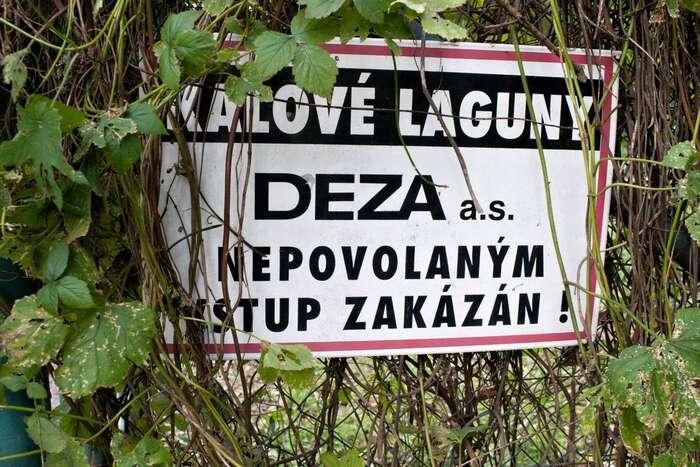 V místě kontaminace připadá vúvahu jen jeden průmyslový zdroj. Foto Jakub Patočka, DR
