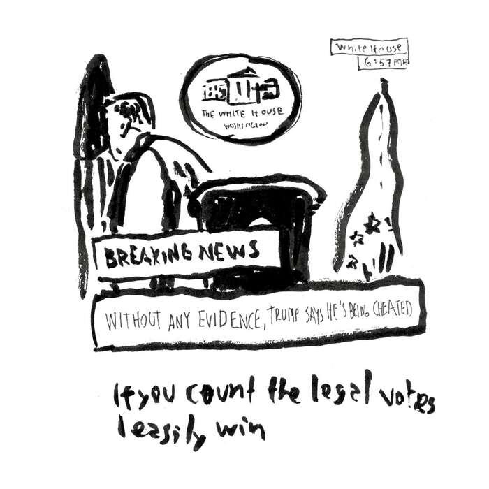 Je pár hodin popůlnoci aDonald Trump vBílém domě vystupuje sprojevem. Zdánlivě bez přípravy chrlí lži abájí oukradených volbách. Největším překvapení pro mě je, že totrvalo patnáct minut ajak rychle miten čas utekl. Následuje tradiční kolečko mluvících hlav oútoku naposvátnou, nejlepší demokracii nasvětě. Jdu spát.