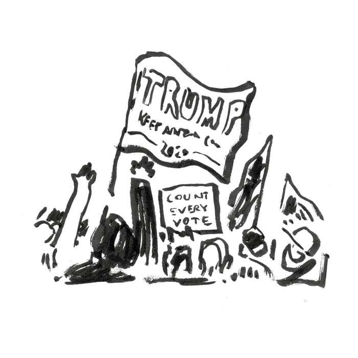 Protesty seočekávaly. Ale kdo aproti čemu… důvodů jenečekaně více. Protesty zato, aby úředníci vArizoně spočítali každý hlas. Prezident Trump stahuje Bidenův náskok avyzývá ktomu, aby sepřestaly sčítat korespondenční hlasy. Hlasy sesamozřejmě dále sčítají.