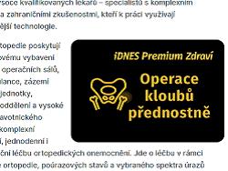 Přísliby přednostní péče nastránkách serveru iDnes z1. prosince 2020. Autor snímku obrazovky: Adéla Čabanová (Medical Tribune). Repro DR