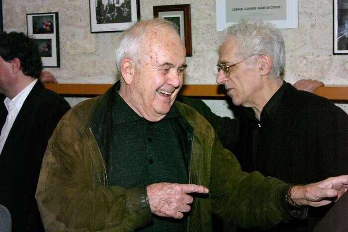A. J. Liehm naoslavě svých osmdesátin (v záběru zaním francouzský filosof Tzvetan Todorov). Foto Archív Jitky dePréval