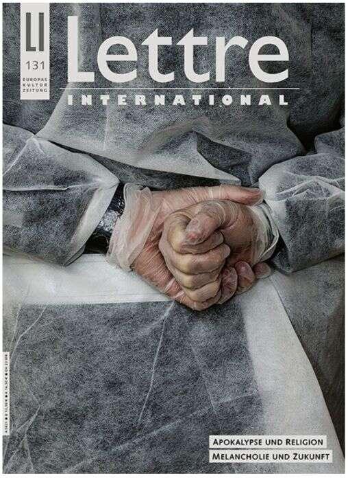 Německá verze Lettre International vychází dodnes. Obálka posledního loňského čísla. Grafika Antoine D'Agata