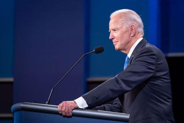 Joe Biden během první předvolební debaty. Foto Adam Schultz, BfP