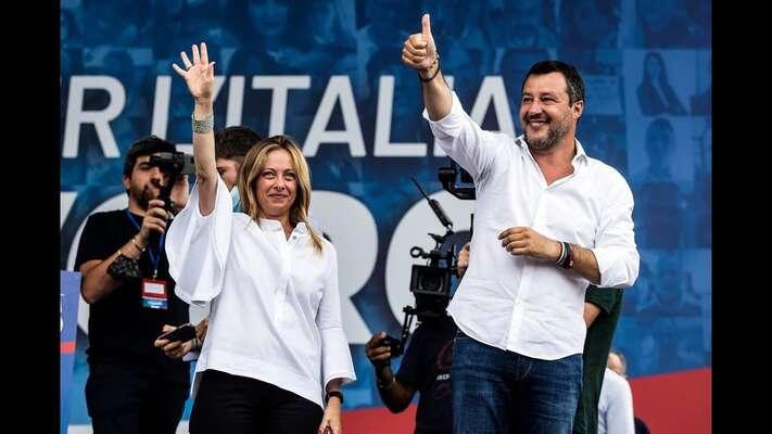 Matteo Salvini zLigy aGiorgia Meloniová zFratelli d'Italia — současní vůdcové italské krajní pravice. Foto archiv CD