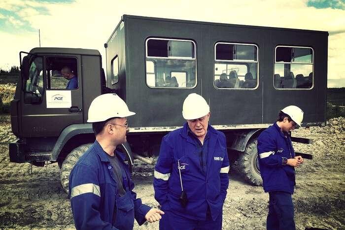 Polští horníci těžbu brání. Foto Media WNET, WmC