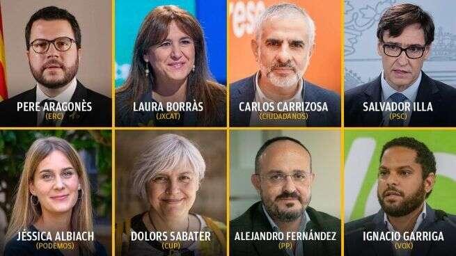 Lídři alídryně letošních katalánských kandidátek. Foto OKDiario, WmC