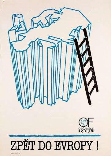 Plakát zroku 1989 nezestárnul. Repro DR