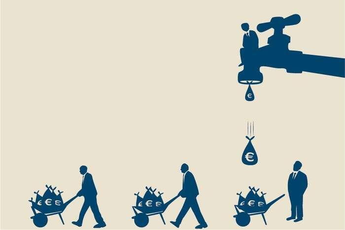 Devadesátá léta 20. století představovala vrchol privatizace vodohospodářství. Vtéto době převládl dojem, že předat vodovody dosoukromých rukou znamená jedinou cestu vpřed. Tose ukázalo jako omyl. Ilustrace Observatoire des Multinationales
