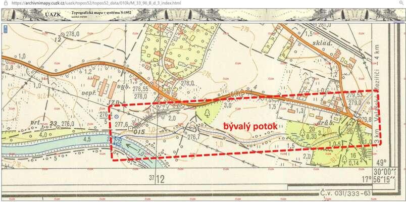 Někdejší potok doBečvy ústil právě vmístě, kde sednes nachází výpusť dešťové kanalizace zeLhotky nad Bečvou. Repro DR