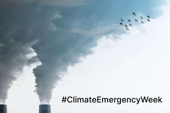 Letos sepravidelný týden intenzivního informování ozměnách klimatu až najedenáct dnů. Potrvá oddneška dočtvrtka 22. dubna, nakterý připadá Den Země izačátek Bidenova klimatického summitu. Hlavním tématem ježivot zaklimatické nouze. Grafika CCNow