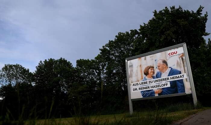 Saskoanhaltskou CDU vedl dovoleb oblíbený aúspěšný předseda místní vlády. Foto Ronny Hartmann, AFP